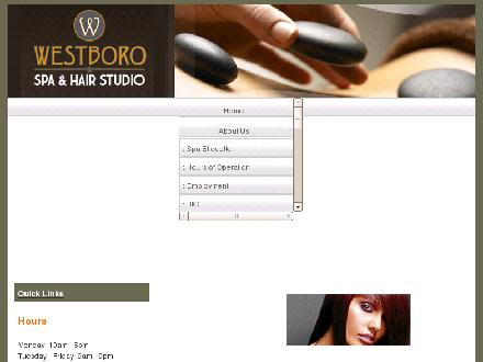 Westboro Spa &amp; Hair Studio (613-722-3456) - Onglet de site Web - http://www.westborospa.com