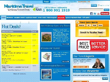 Uniglobe River Valley Travel Ltd (506-633-7710) - Onglet de site Web - http://www.unigloberivervalley.com