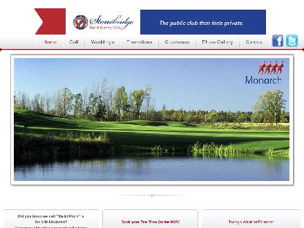 Stonebridge Golf And Country Club (613-692-6093) - Onglet de site Web - http://www.stonebridgegc.com