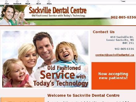 Sackville Dental Centre (902-865-6336) - Website thumbnail - http://sackvilledental.ca