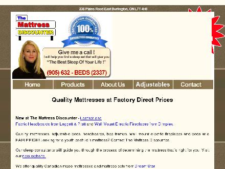 Mattress Discounter (905-632-2337) - Website thumbnail - http://www.themattressdiscounter.com