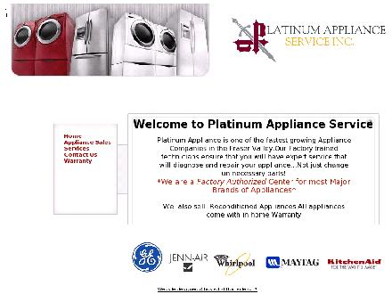 Platinum Appliance Service (604-826-8403) - Website thumbnail - http://www.platinumappliance.com