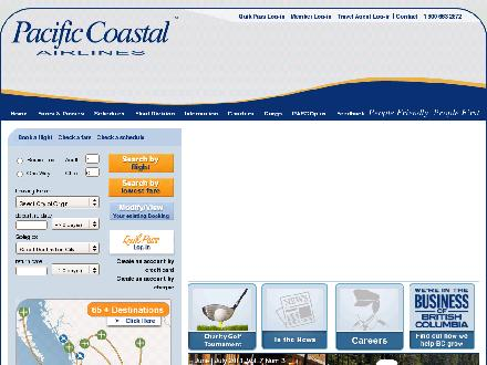 Pacific Coastal Airlines (1-800-663-2872) - Website thumbnail - http://www.pacificcoastal.com