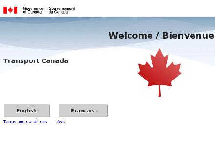 Transports Canada (1-866-814-1477) - Website thumbnail - http://www.tc.gc.ca