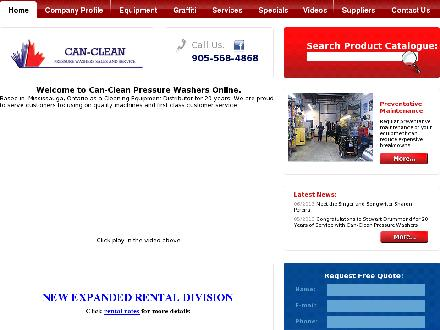 Can-Clean Pressure Washers (1-888-568-8001) - Website thumbnail - http://www.cancleanpressurewashers.com
