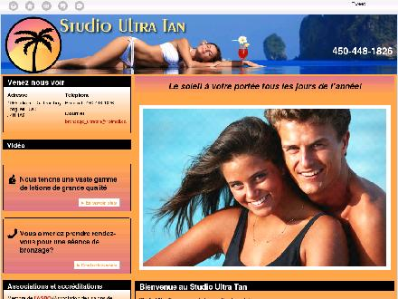 Studio Ultra Tan (450-448-1826) - Website thumbnail - http://studioultratan.ca/