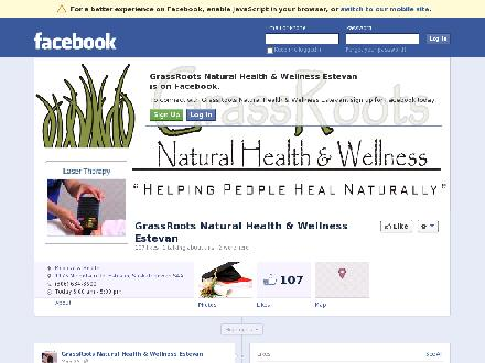 Grassroots Natural Health &amp; Wellness (306-634-8600) - Onglet de site Web - http://www.facebook.com/GrassRootsNaturalHealthWellness?fref=ts