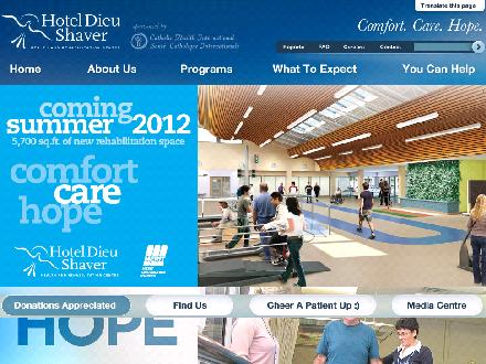 Hotel Dieu Shaver Health And Rehabilitation Centre (905-685-1381) - Website thumbnail - http://www.hoteldieushaver.org