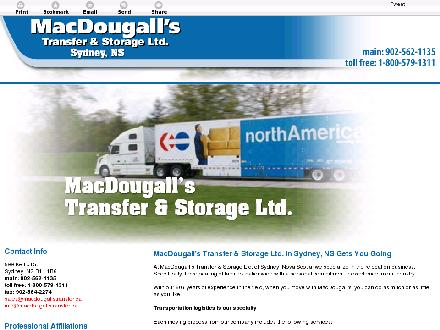 MacDougall's Transfer & Storage Ltd (902-562-1135) - Website thumbnail - http://macdougallstransfer.ca/