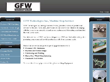 G F W Technologies Inc (519-740-8680) - Website thumbnail - http://gfw.ca/