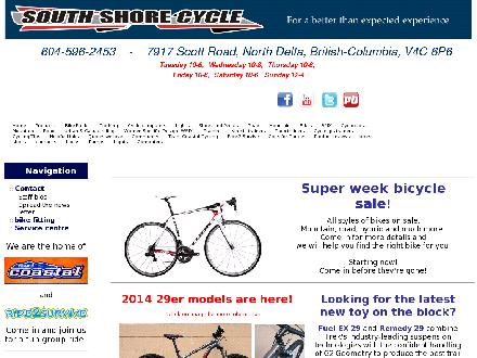 South Shore Cycle (604-596-2453) - Website thumbnail - http://www.southshorecycle.ca
