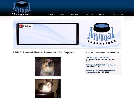 Animal Essentials (506-459-2010) - Onglet de site Web - http://www.animalessentials.ca