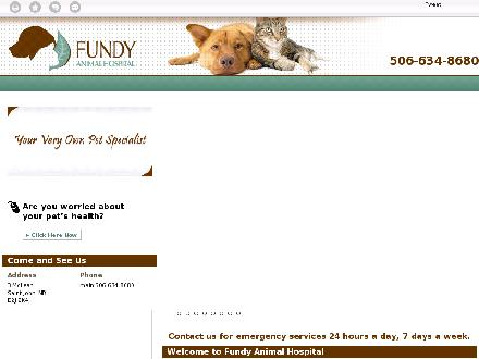Fundy Animal Hospital Ltd (506-634-8680) - Website thumbnail - http://fundyanimalhospital.com/