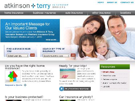 Atkinson & Terry Insurance Brokers (604-596-1717) - Onglet de site Web - http://www.atkinson-terry.com
