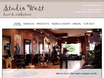 Studio West Hair & Esthetics (807-623-2610) - Onglet de site Web - http://www.studiowestsalon.ca