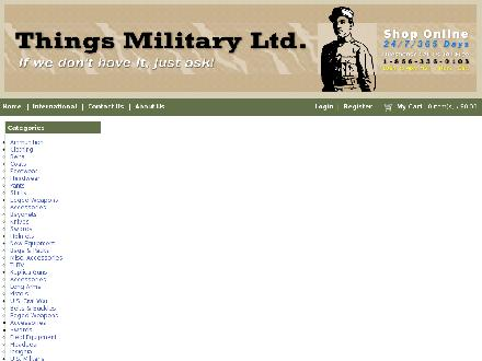 Things Military Ltd (403-235-4713) - Website thumbnail - http://www.thingsmilitary.com