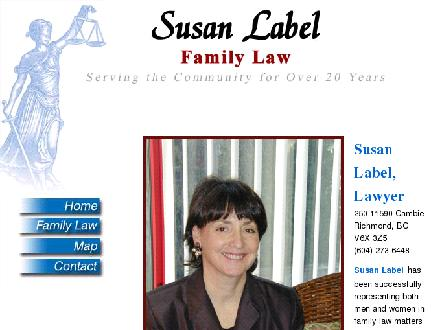 Label, Susan Lawyer (604-273-6448) - Website thumbnail - http://www.susanlabel.com