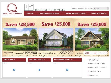 Quality Engineered Homes Ltd (1-800-265-2648) - Website thumbnail - http://www.qualityhomes.ca