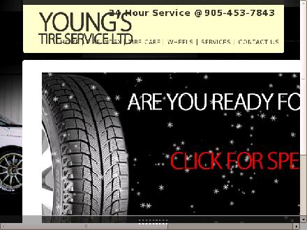 Young's Tire Service Ltd (289-201-1168) - Website thumbnail - http://www.youngstire.ca