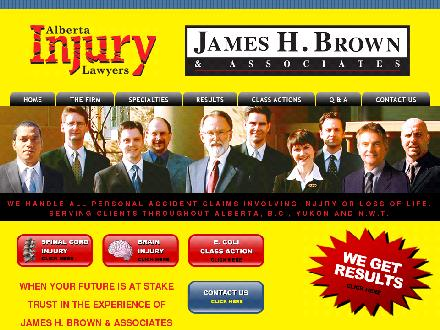 James H. Brown & Associates (1-800-616-0088) - Onglet de site Web - http://www.jameshbrown.com