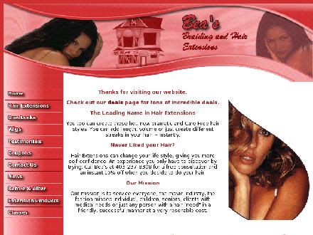 Bea's Braiding &amp; Hair Extension (403-237-8308) - Onglet de site Web - http://www.beasbraiding.com