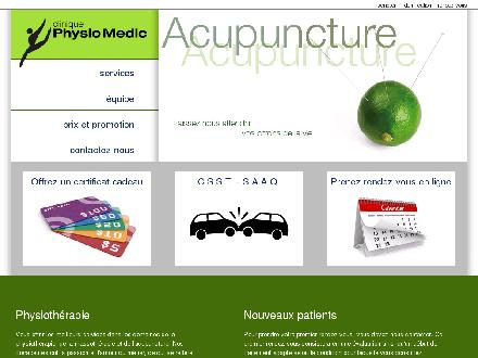 Physio Medic (450-231-1326) - Website thumbnail - http://www.physiomedic.ca