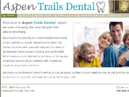 Aspen Trails Dental (780-449-5225) - Onglet de site Web - http://www.aspentrailsdental.com