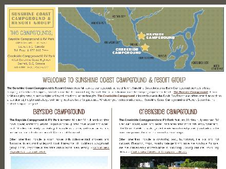 Creekside Campground (604-885-5937) - Onglet de site Web - http://www.wilsoncreekcampground.com/