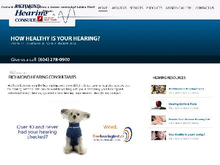 Richmond Hearing Consultants (604-238-2568) - Onglet de site Web - http://www.richmondhearing.ca