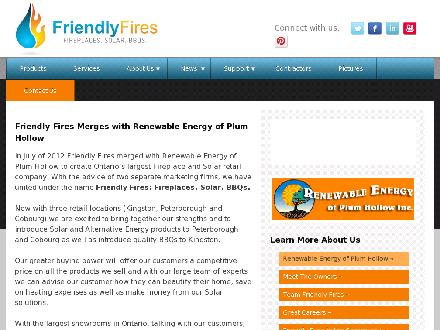 Friendly Fires (613-777-7905) - Website thumbnail - http://www.renewableenergy.on.ca