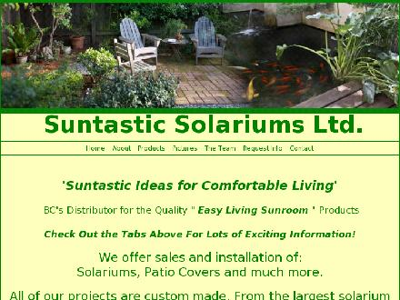 Suntastic Solariums Ltd (604-583-8551) - Website thumbnail - http://www.suntasticsolariums.com