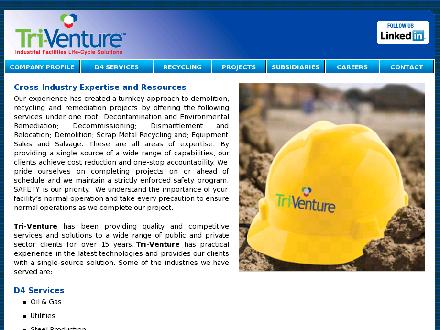 Tri-Venture Construction Ltd (403-912-2016) - Website thumbnail - http://www.tri-venture.net