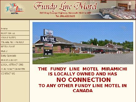 Fundy Line Motel (506-622-3650) - Onglet de site Web - http://www.fundyline.com