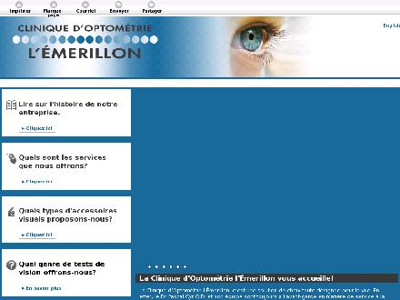 Clinique d'Optométrie Emerillon Inc (418-844-2520) - Onglet de site Web - http://emerillon.ca/