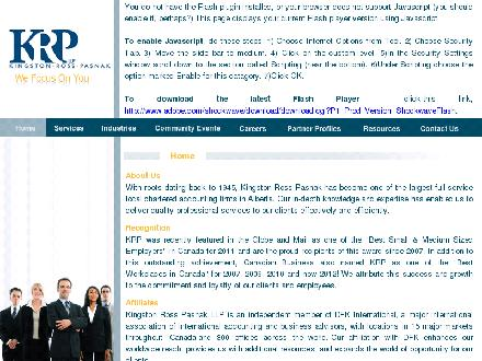 Kingston Ross Pasnak LLP (780-424-3000) - Onglet de site Web - http://www.krpgroup.com