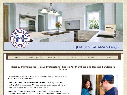 Huntley Plumbing (613-828-0905) - Onglet de site Web - http://www.huntleyplumbing.ca