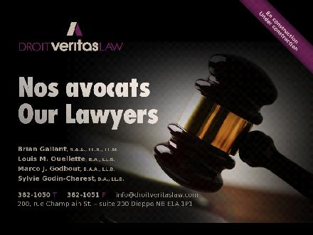Droit Veritas Law (506-382-1050) - Website thumbnail - http://www.droitveritaslaw.com