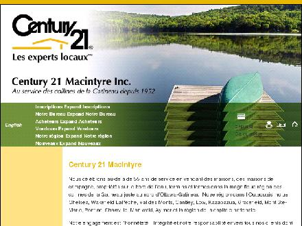Century 21 Macintyre Inc (819-459-2355) - Onglet de site Web - http://www.c21macintyre.com/pgeHome.aspx?lang=fr