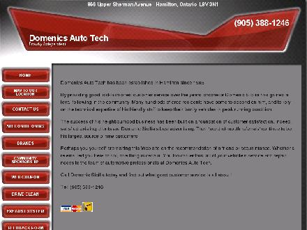 Domenic's Olco Auto Tech (905-388-1246) - Website thumbnail - http://www.domenicsautotech.aaro.ca