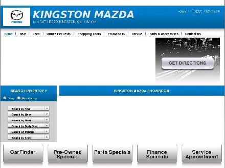 Kingston Mazda (613-542-2000) - Website thumbnail - http://www.kingstonmazda.ca
