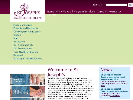 St Joseph's Health Centre Guelph (519-824-6000) - Onglet de site Web - http://www.sjhcg.ca