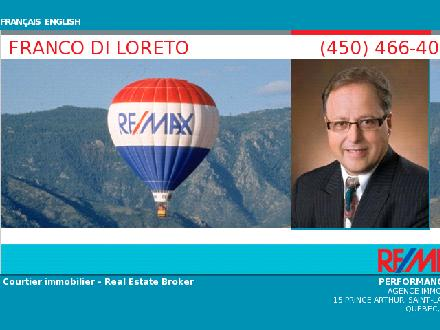 Frank Di Loreto Re/Max Performance Inc (514-993-6209) - Onglet de site Web - http://10877.kaluxo.remax-quebec.com/