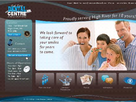 High River Dental Centre (403-798-0889) - Onglet de site Web - http://www.highriverdental.ca