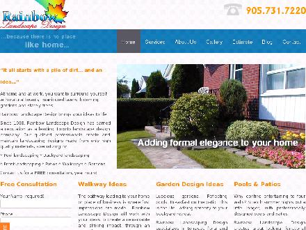 Rainbow Landscaping & Design Inc (416-720-7100) - Website thumbnail - http://www.rainbowlandscaping.com