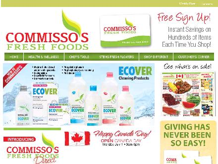 Commisso's Fresh Foods (905-357-6600) - Website thumbnail - http://www.commissosfreshfoods.com