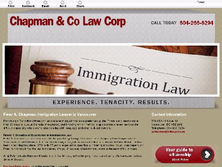 Chapman &amp; Co Law Corp (604-266-6294) - Onglet de site Web - http://chapmanlaw.info/