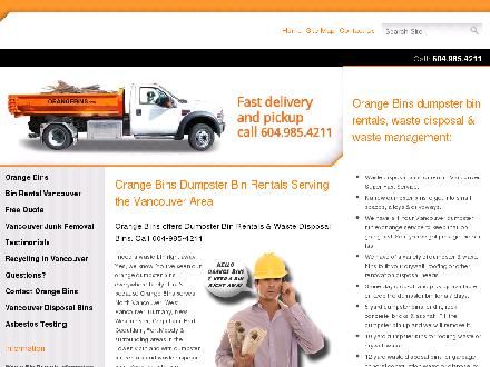 Orange Bins (604-695-1171) - Onglet de site Web - http://www.orangebins.com