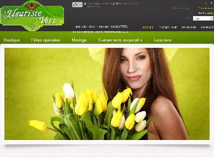 Fleuriste Vert (418-800-3431) - Onglet de site Web - http://www.fleuristevert.com