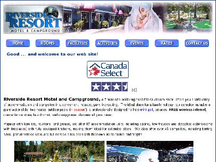 Riverside Resort Motel & Campground (250-752-9544) - Onglet de site Web - http://www.myriversideresort.com
