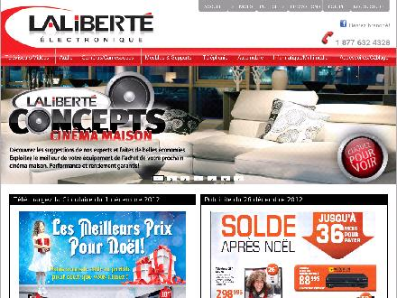 Lalibert&eacute; Electronique (418-839-4328) - Onglet de site Web - http://laliberteelectronique.com/